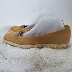 Salvatore Ferragamo Tan Suede Espadrilles Shoes 10